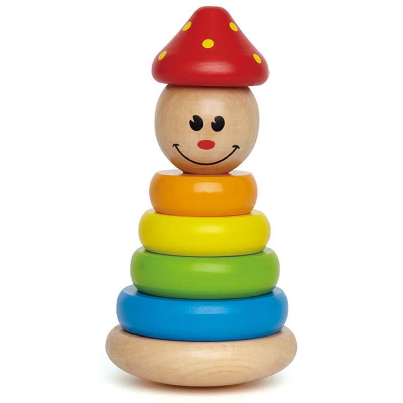 JD Коллекция клоун пирамидка 3-6 лет деревянные игрушки бомик клоун пирамидка 3