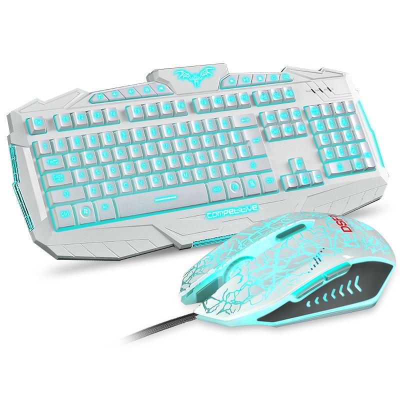 RAJFOO Слоновая кость бамбуковая клавиатура ku 308 клавиатура и мышь набор клавиатура и мышь проводная клавиатура бизнес