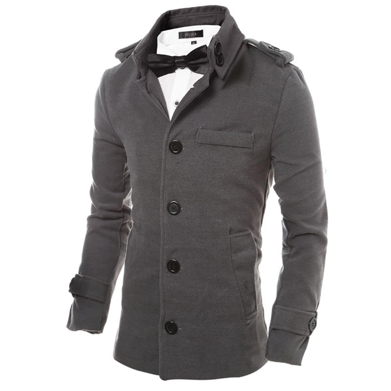 Мужчины пальто зимы CT&HF Серый цвет Номер XL