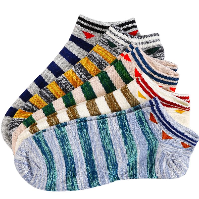 JD Коллекция Полосатые короткие мужские носки 5 пар оборудования Весь код