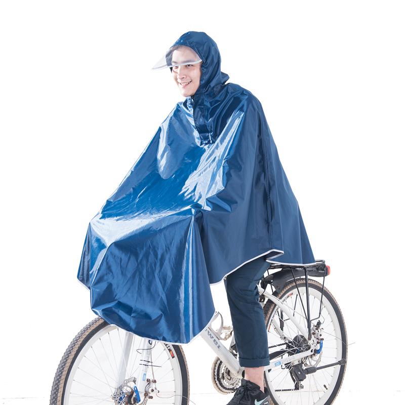 JD Коллекция военно-морской флот 3XL kendo открытый верховая езда взрослый велосипед плащ мужской и женский одиночный пончо увеличить утолщение z 1 темно синий 3xl