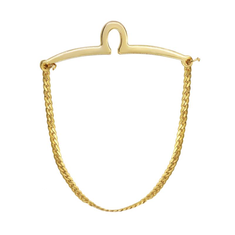 yoursfs Роза золотой yoursfs® classic gold color tie фиксированная цепочка для мужчин позолоченные линк цепочка для связывания с цепочкой