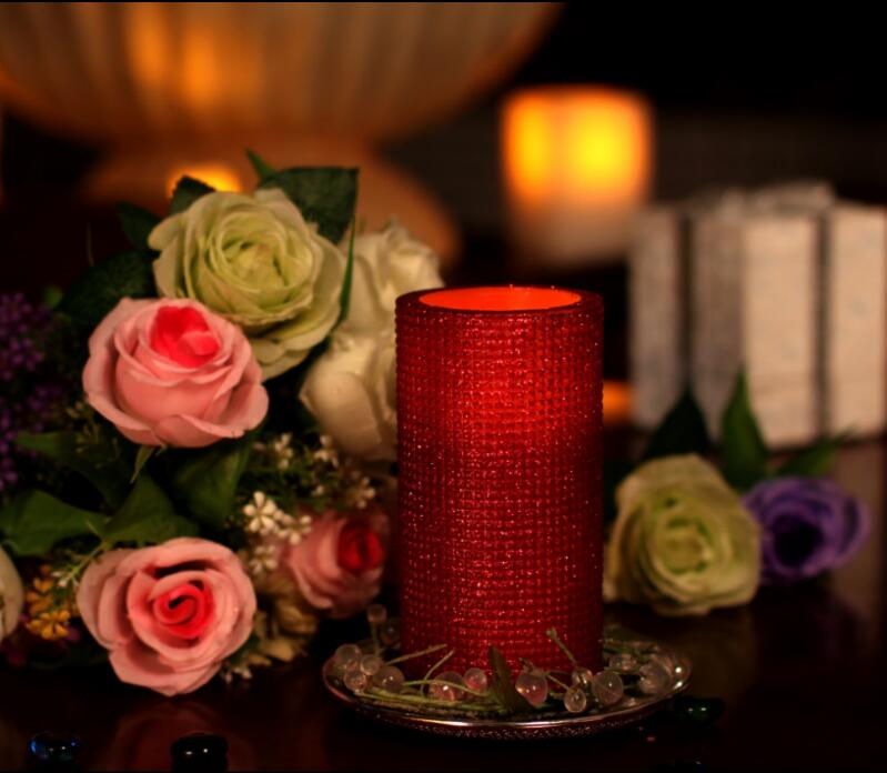home impressions Красный led candle light wedding birthday decor electronic led candle light smokeless flameless candle electronic pillar candle for home