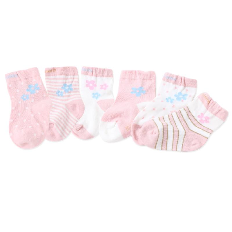 JD Коллекция миллер рыба детских носков новорожденного four seasons плоских хлопчатобумажные носки полные дети 3 5 лет шесть пар платья синего