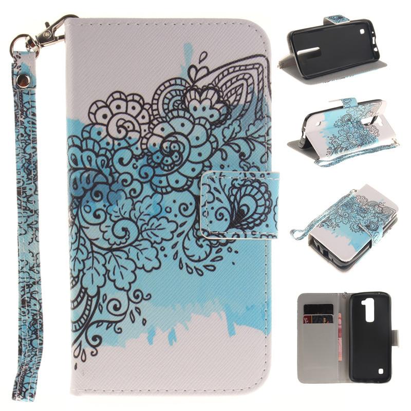 GANGXUN дух дизайн кожа pu откидная крышка бумажника карты держатель чехол для lg k7
