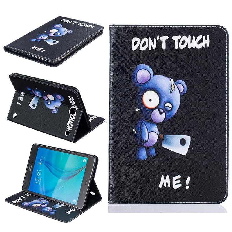 GANGXUN синий медведь стиль тиснение классический откидная крышка с функцией подставки и слот для кредитных карт для samsung galaxy tab a 8 0 t350