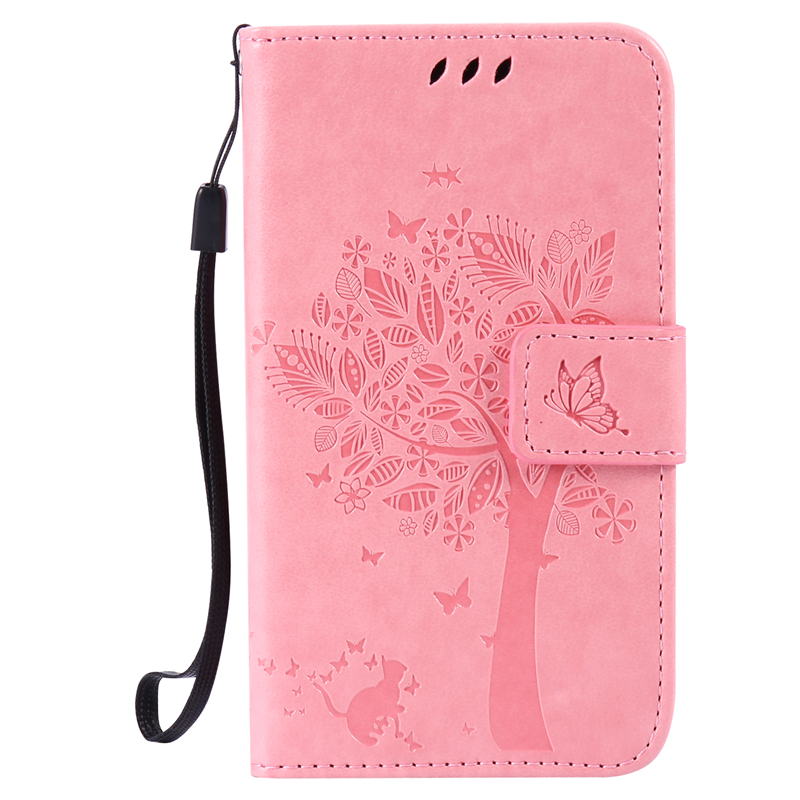 GANGXUN pink tree design pu кожа флип крышку кошелек карты держатель чехол для samsung j710