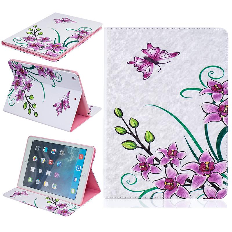 GANGXUN розовая бабочка стиль тиснение классический откидная крышка с функцией подставки и слот для кредитных карт для ipad pro 9 7