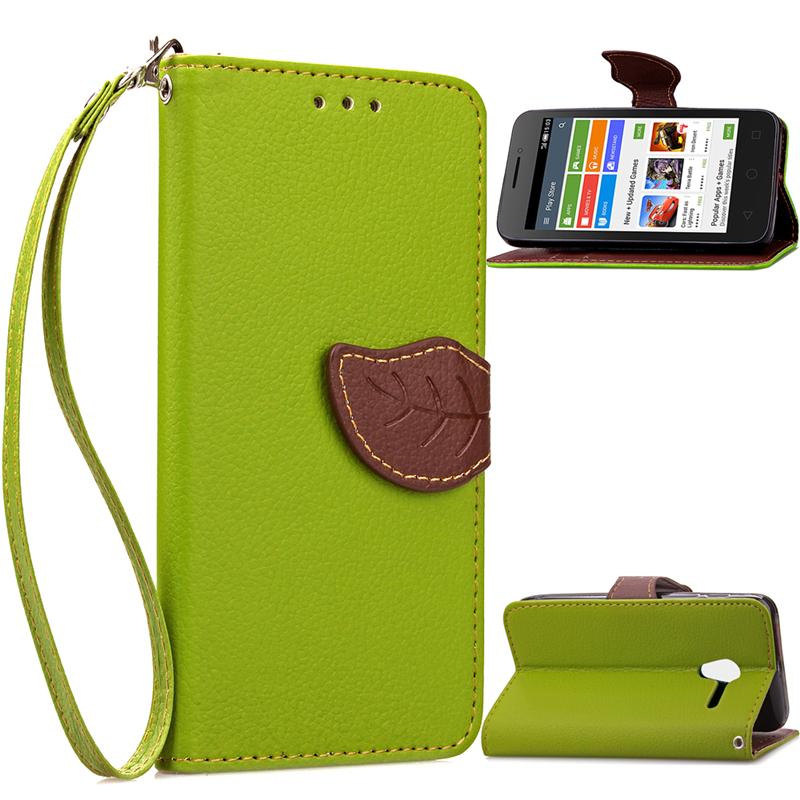 GANGXUN коричневый дизайн кожа pu откидная крышка бумажника карты держатель чехол для alcatel onetouch pixi3 4 0