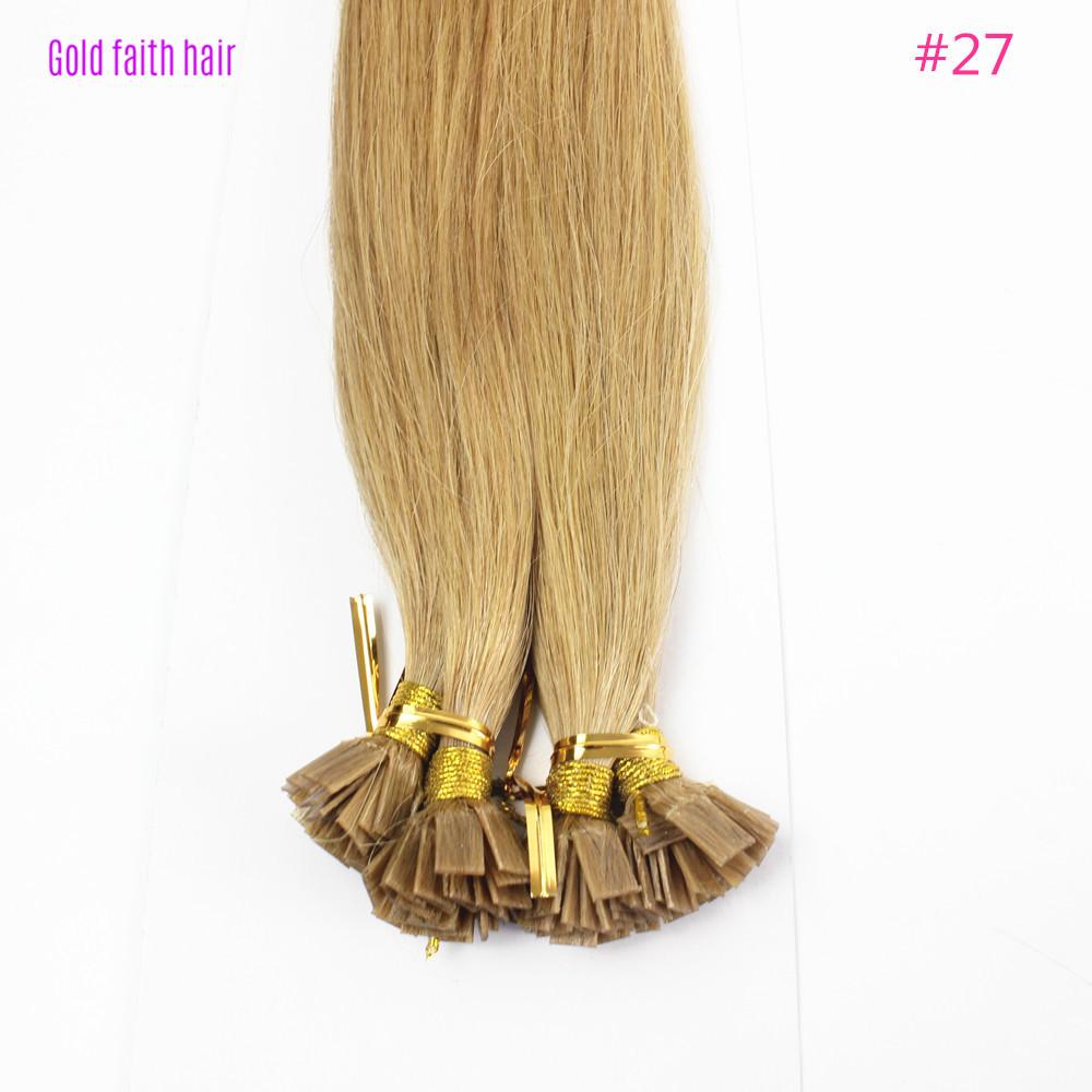 iwona 30 дюймов 1g s 100g human remy hair 8 light brown straight custom capsule keratin flat tip fusion full human hair extensions