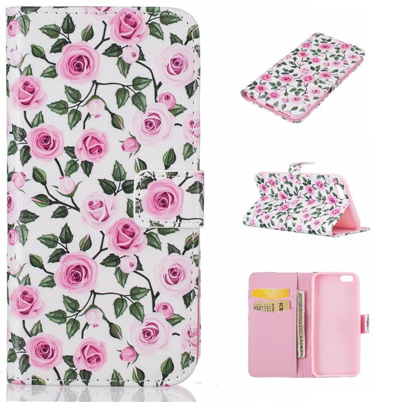 GANGXUN iPhone 66s дворец цветок дизайн искусственная кожа флип кошелек карты держатель чехол для iphone 6 plus 6s plus