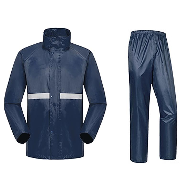 JD Коллекция Плащ-брюки пакет синий kendo открытый верховая езда взрослый велосипед плащ мужской и женский одиночный пончо увеличить утолщение z 1 темно синий 3xl
