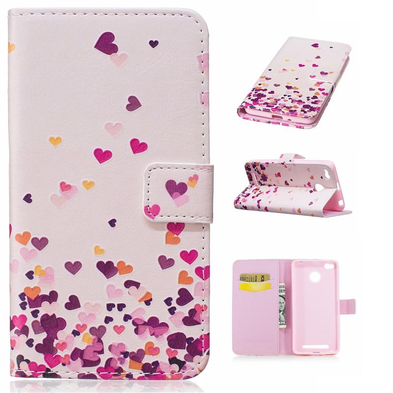 GANGXUN розовый дизайн кожа pu откидная крышка бумажника карты держатель чехол для xiaomi 4s m4s