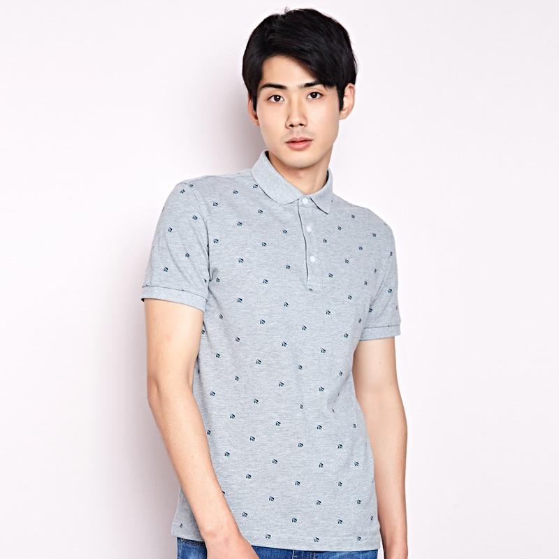 JD Коллекция Светло-серый 16584A playboy мужская модная и повседневная футболка с коротким рукавом и клуглым воротником