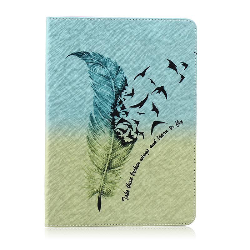 GANGXUN розовая бабочка стиль тиснение классический откидная крышка с функцией подставки и слот для кредитных карт для ipad air 5