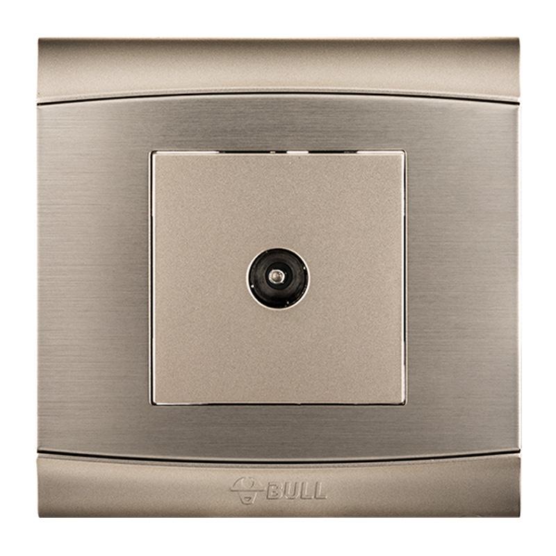 BULL Отвод TV дефолт bull bull гнездо для переключателя g07 серия гнездо для телевизора 86 гнездо для розетки g07t103 u6 шампанское золото