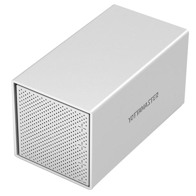 JD Коллекция Четыре бита USB30 корпус yottamaster шкафы ps100u3 алюминий 3 5 дюйма sata3 0 usb3 0 hdd enclosure серийный настольный жесткий диск поддерживает 10tb жесткий диск серебра