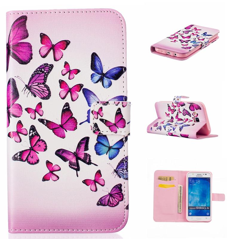 GANGXUN розовый сердце дизайн кожа pu откидная крышка бумажника карты держатель чехол для samsung galaxy j5