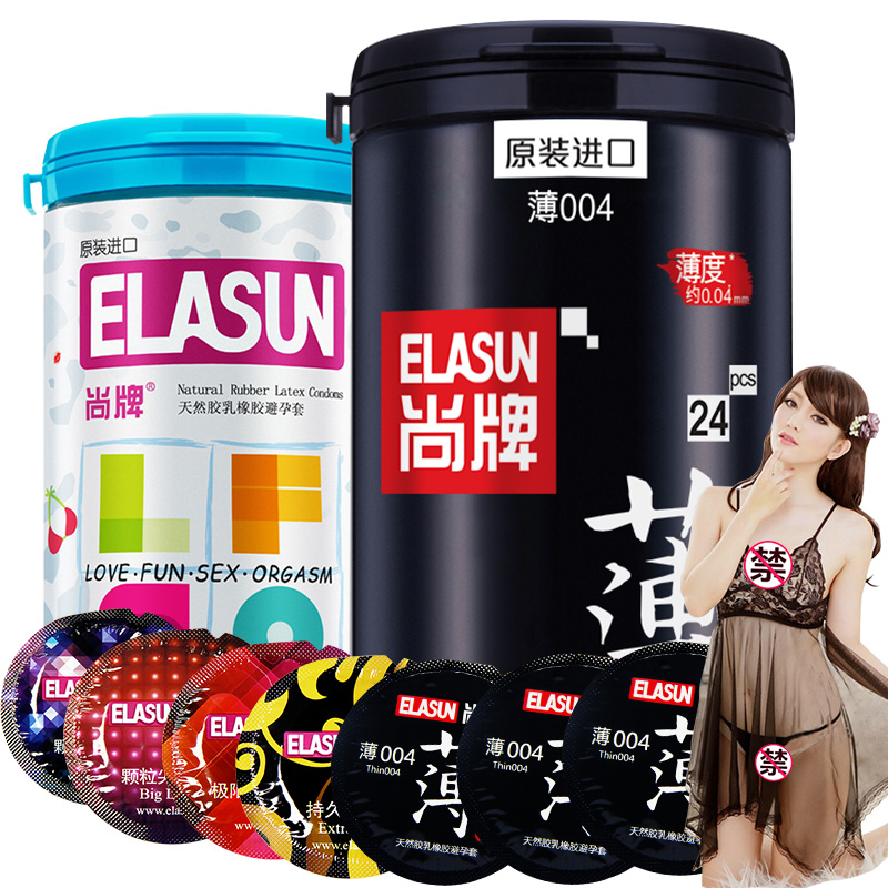 JD Коллекция elasun импортные презервативы 24 3 4 шт