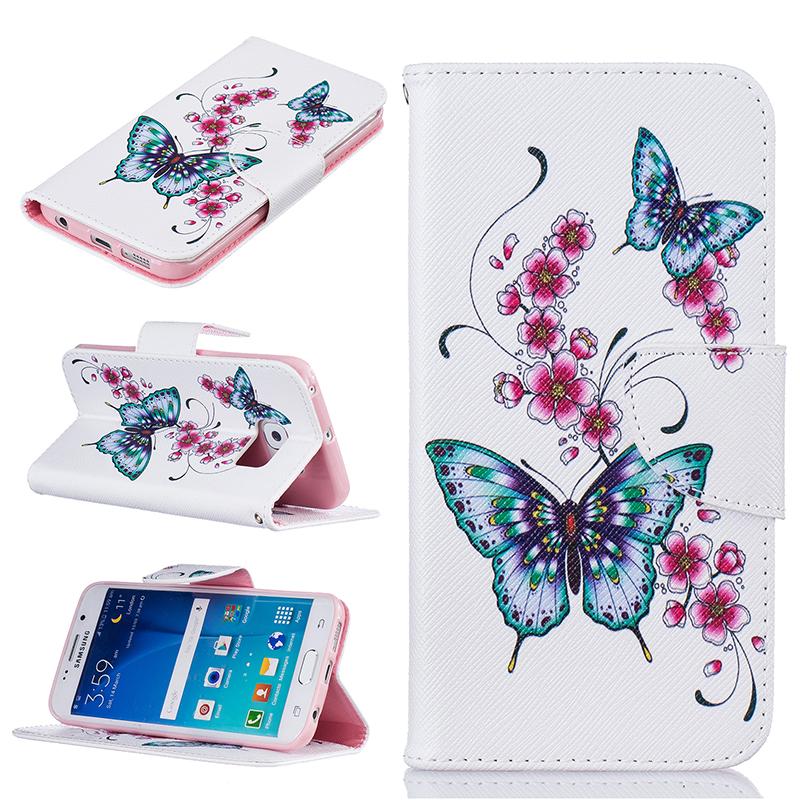 GANGXUN персик бабочка дизайн искусственная кожа флип кошелек карты держатель чехол для samsung galaxy a3 2016 a310