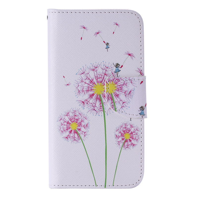 GANGXUN pink dandelion design кожа pu откидной крышки кошелек для карты держатель для samsung j5prime