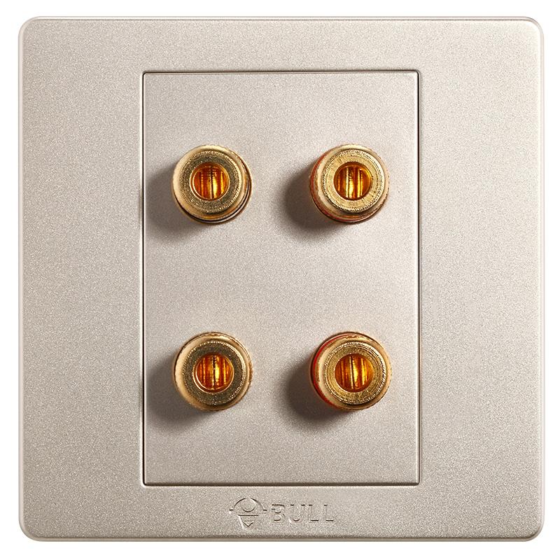 BULL Четыре колонки дефолт bull bull гнездо для переключателя g07 серия гнездо для телевизора 86 гнездо для розетки g07t103 u6 шампанское золото