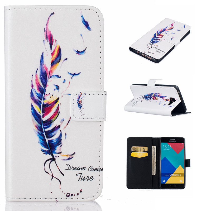 GANGXUN mooncase flower style leather side flip wallet card slot stand pouch чехол для huawei ascend y635 a01