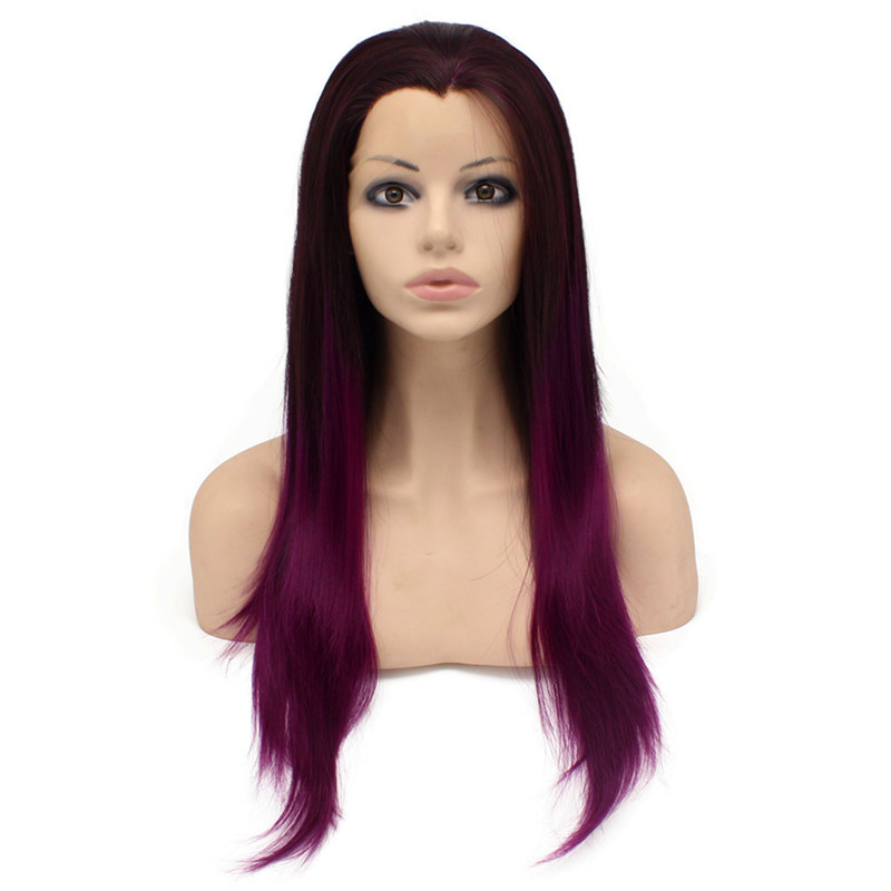 iwona two tone ombre long natural straight stunning stylish synthetic lace front wig for women