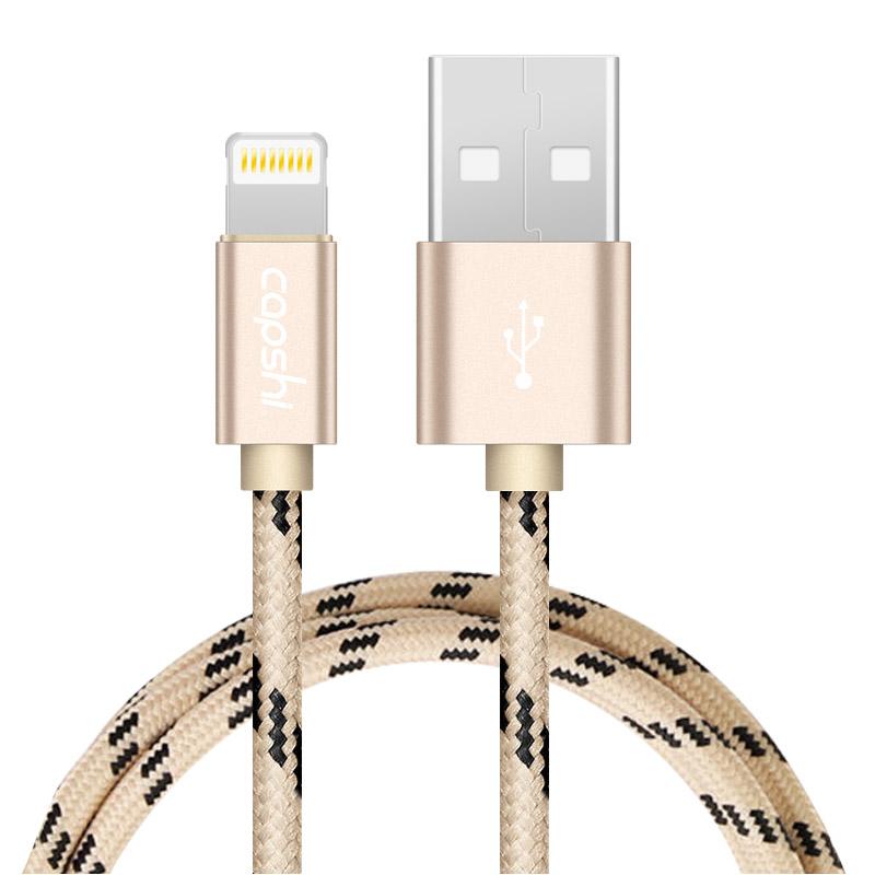 JD Коллекция Золотой 1 м кабель lightning 1м wiiix круглый cb120 u8 10b