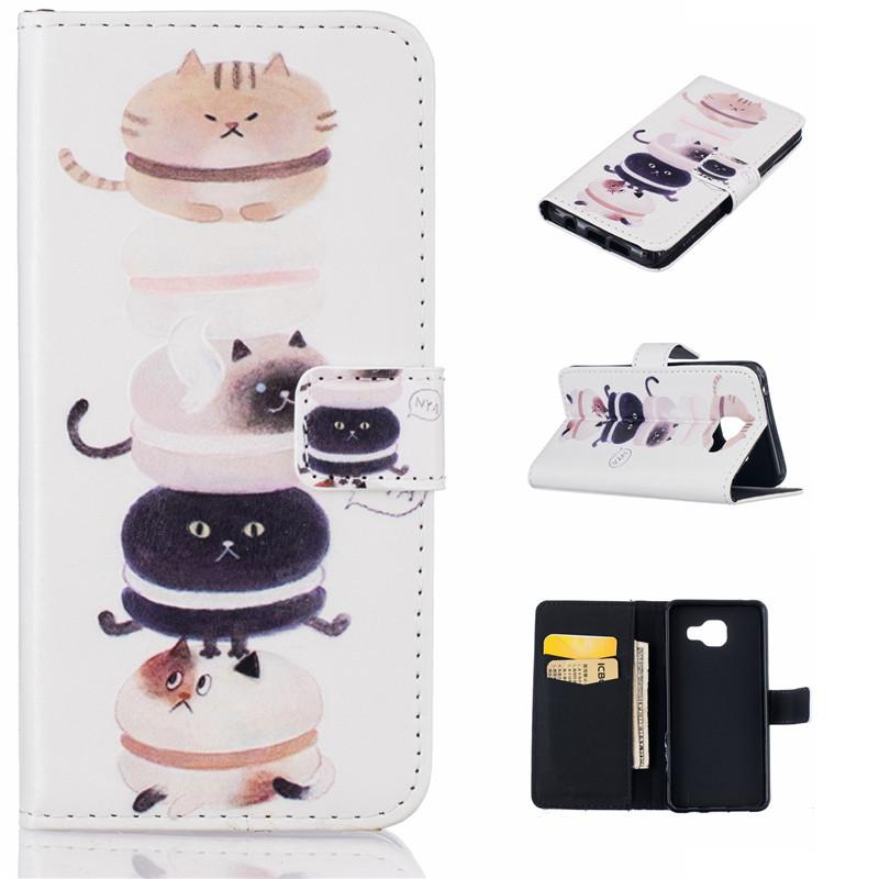 GANGXUN браун роуз дизайн кожа pu откидная крышка бумажника карты держатель чехол для samsung a310