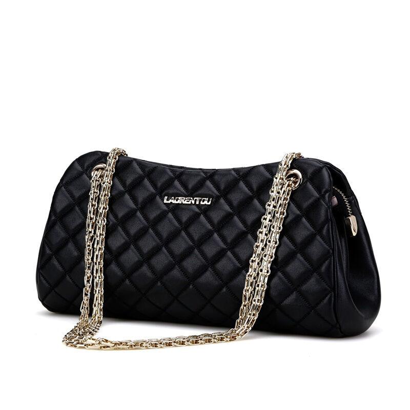 JD Коллекция дефолт дефолт marino женщина lingge цепи плечо сумка пакет милая леди элегантный черный