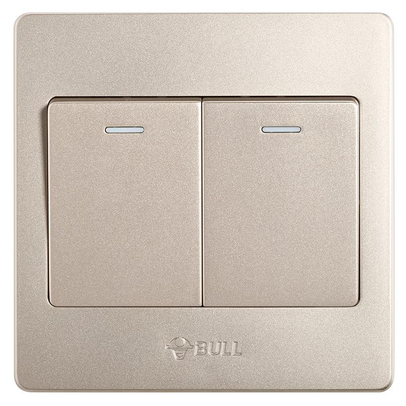 BULL Два открытых единого управления дефолт bull bull гнездо для переключателя g07 серия гнездо для телевизора 86 гнездо для розетки g07t103 u6 шампанское золото