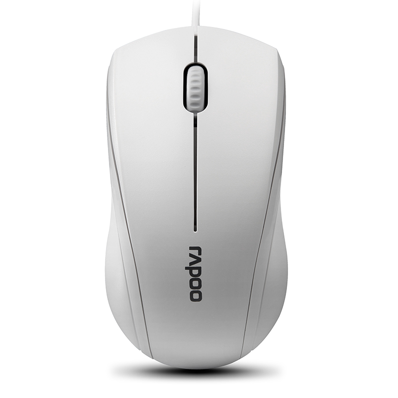 Rapoo N2100 Белый Проводной мышь rapoo n1162 белый