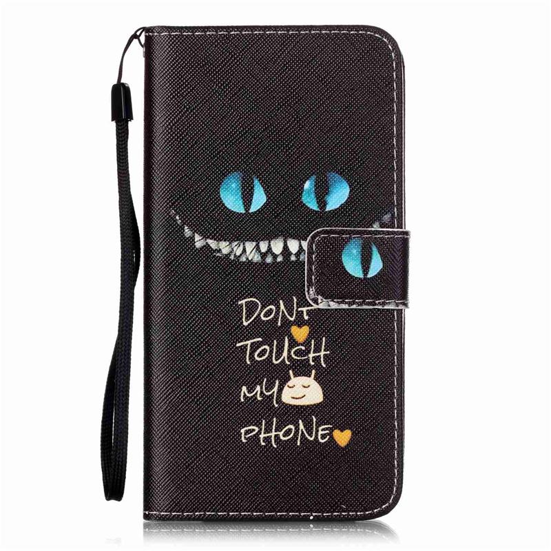 GANGXUN голубые глаза дизайн кожа pu откидная крышка карточки бумажника держатель случая для lg k8