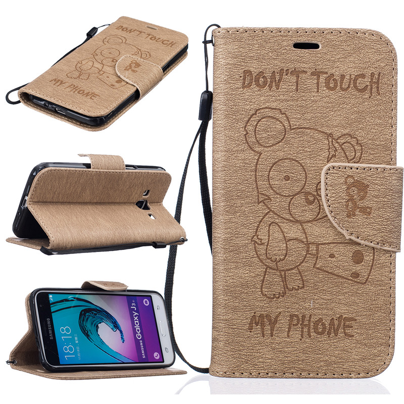 GANGXUN dikuka pu leather case cover stand w strap card slot for samsung galaxy win i8552 brown