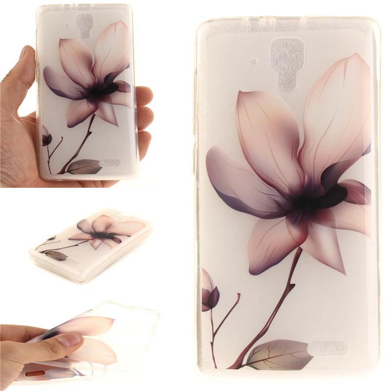 GANGXUN магнолия цветок картины мягкий тонкий тпу резиновая крышка случая силикона геля для lenovo a319