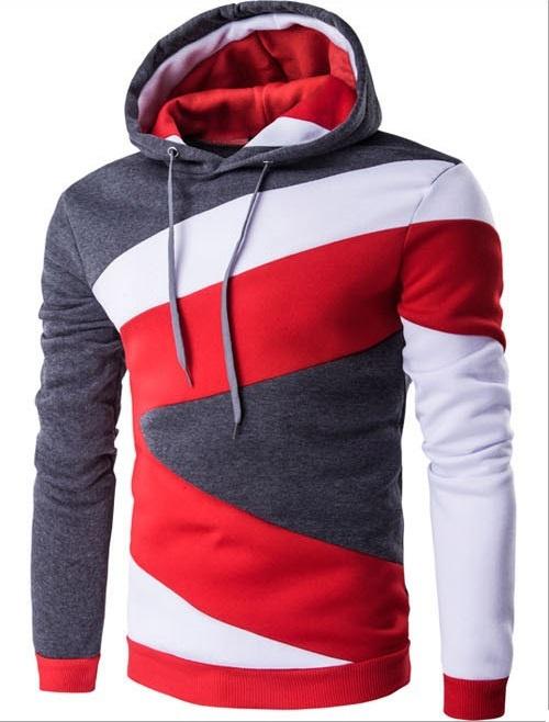 ZOGAA Темно-серый Номер М green hooded design pullover jumper