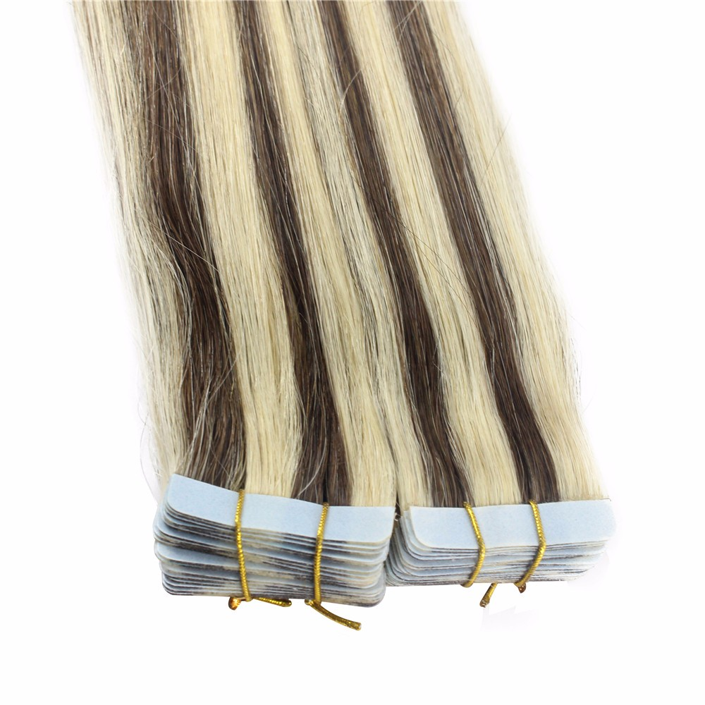 iwona 20 inches 10 pieces 20 remy tape hair extensions 16 ash blonde