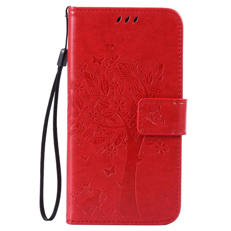 GANGXUN red tree design кожа pu откидной крышки кошелек карты держатель чехол для samsung s7