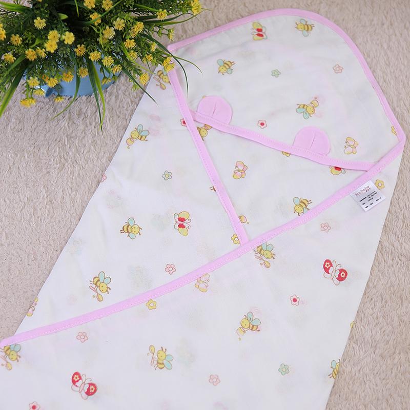 JD Коллекция хлопок эпохи purcotton детей марля одеяло детское постельное белье 135x120cm 1 цзянь дерево зеленый фон белые пятна