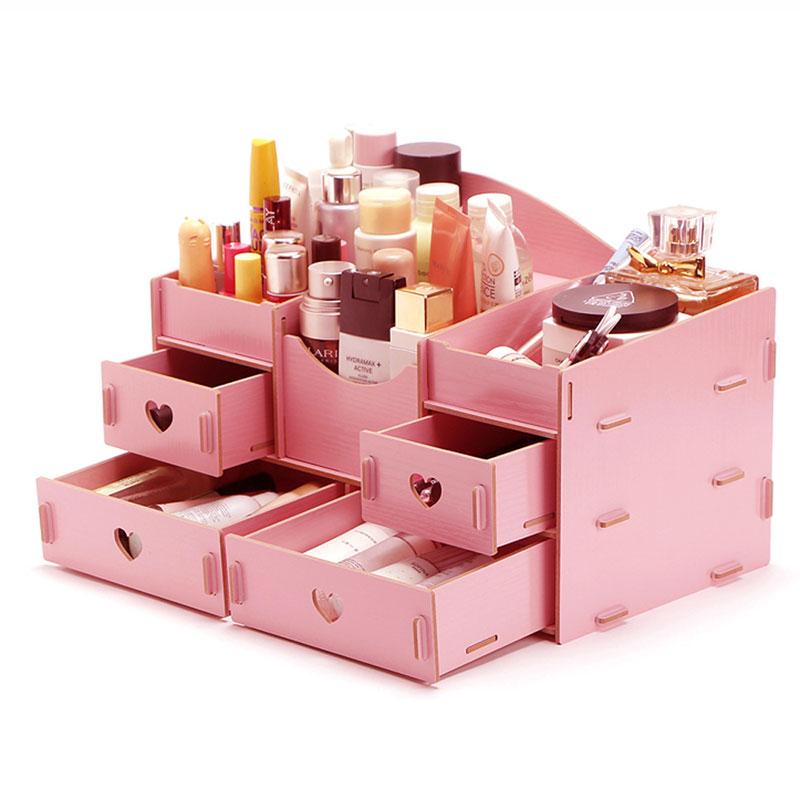 JD Коллекция розовый дефолт edo косметика ящик для хранения ящик для хранения пластиковых шкафов для хранения ящик для хранения тетрадей th1160 green