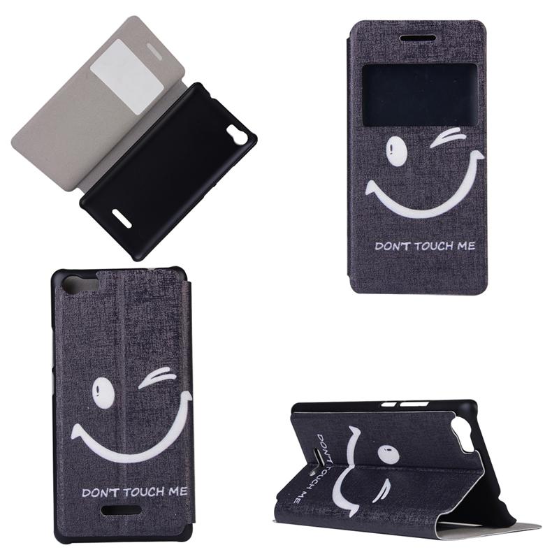 GANGXUN бабочка улыбка дизайн кожа pu откидной крышки кошелек карты чехол для wiko fever
