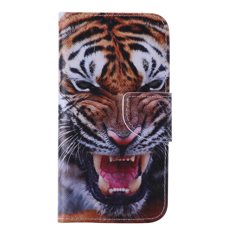 GANGXUN тигр дизайн кожа pu откидной крышки кошелек карты держатель чехол для lg nexus 5x