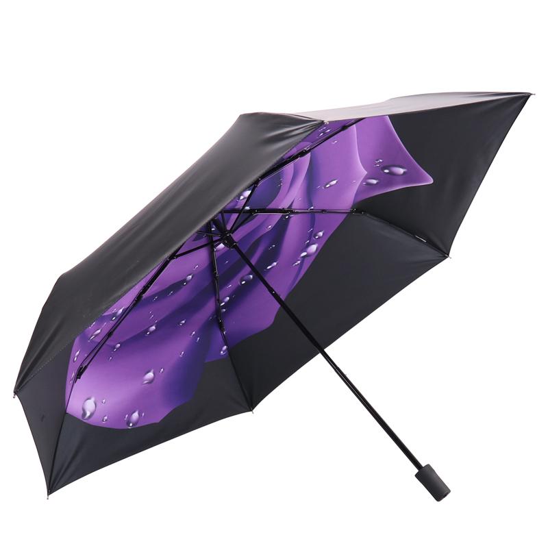 JD Коллекция Пурпурная роза дефолт jingdong [супермаркет] рай зонтик upf50 весь оттенок черного винила передачи сложенный зонтик зонтик зонт от солнца восход 30309dlcj