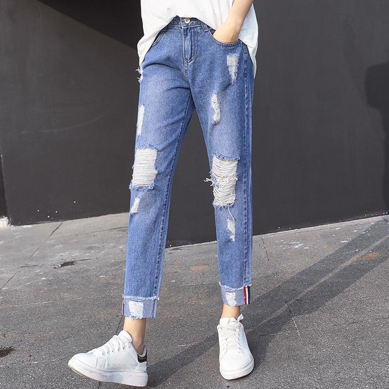 JD Коллекция Светло-голубые брюки ноги 28 цена