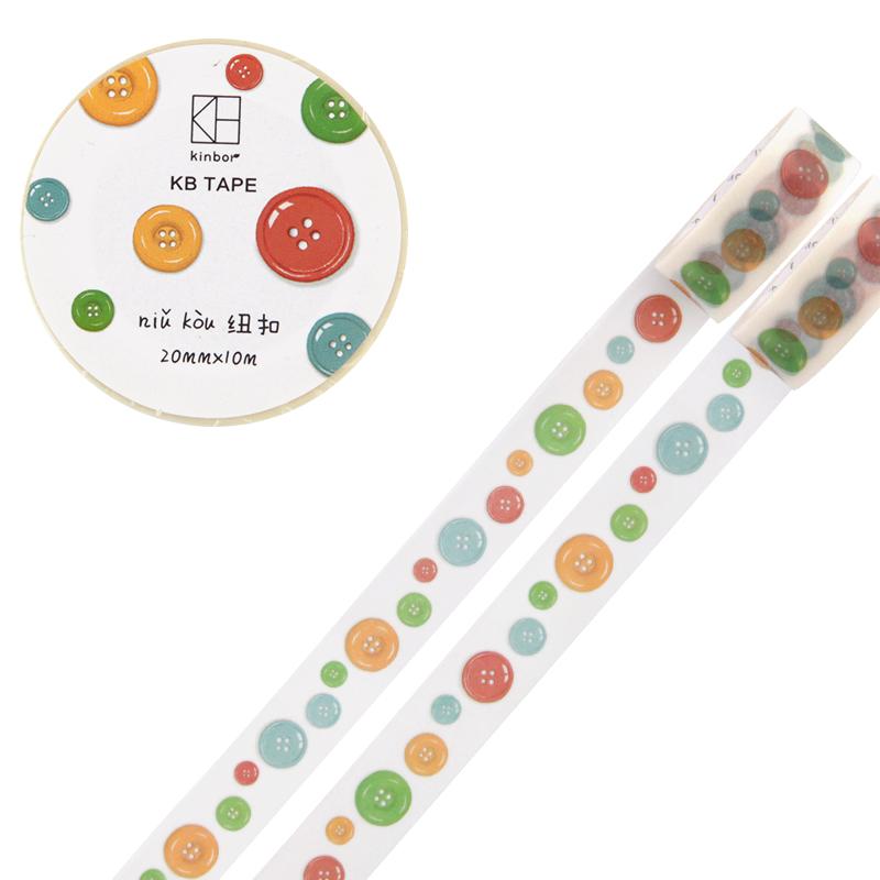 JD Коллекция 20мм 10м кнопка дефолт 1 5 3cm 5 7m classical style washi tape diy decoration scrapbooking planner masking tape adhesive tape label sticker stationery