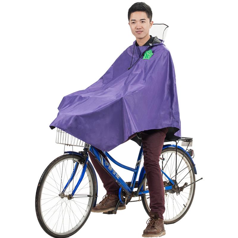 JD Коллекция фиолетовый пончо велосипедов [супермаркет] рай зонтик дважды jingdong увеличить больше мотоцикл пончо плащ оксфорд светящаяся полоса размер navy j231