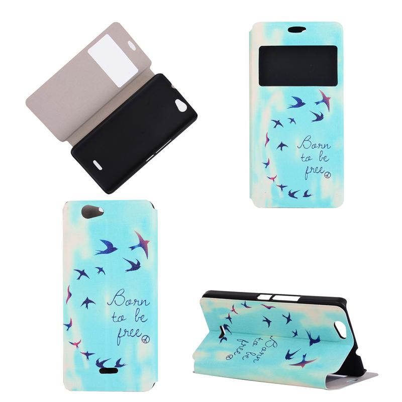 GANGXUN flying birds sky design pu кожа флип обложка кошелек карты держатель чехол для wiko bloom