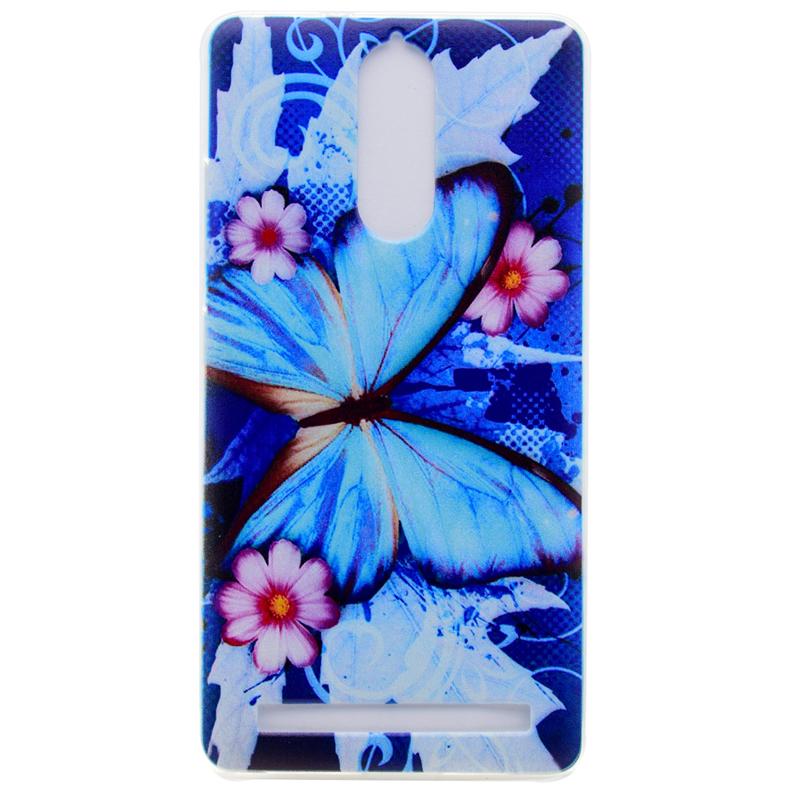 GANGXUN голубая бабочка шаблон мягкий чехол тонкий тпу резиновый силиконовый гель чехол для lenovo k5 note