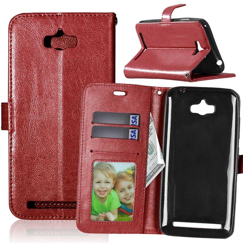 GANGXUN браун стиль классический флип обложка с функцией подставки и слот для кредитных карт для asus zenfone 3 ze552kl